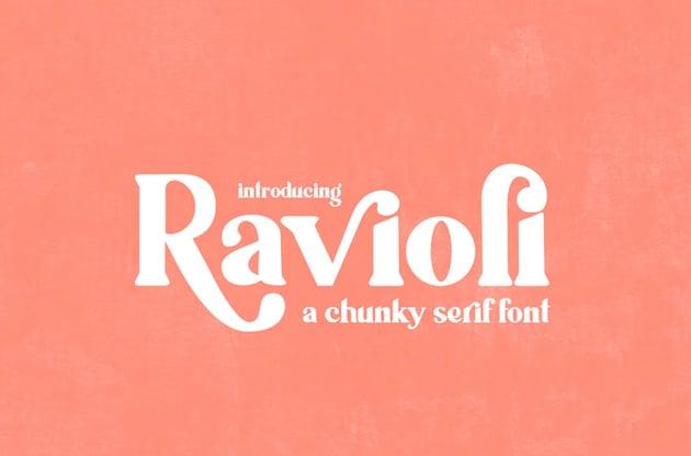 Ravioli Serif Font