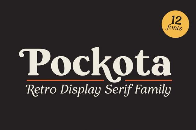 Pockota Retro Display Serif Family
