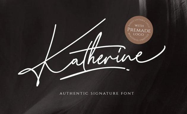 Katherine Script Logo Font