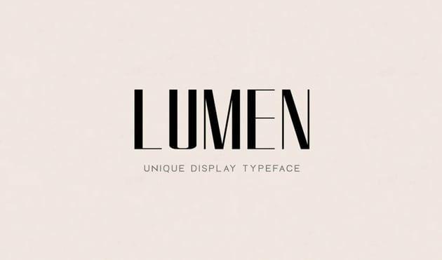 Lumen Stylish Logo Font