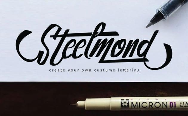 Steelmond Lettering Logotype Font