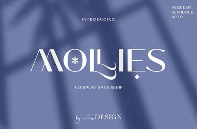 Mollies Stylish Logo Font