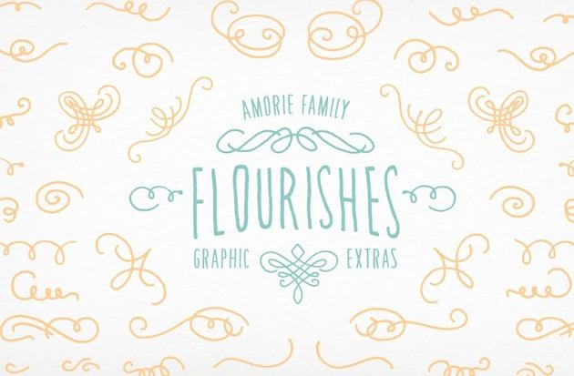 Amorie Font Elements Flourishes