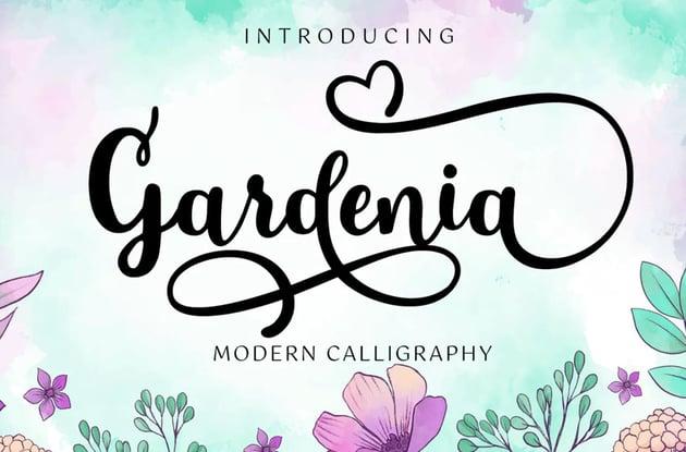 Gardenia Script with Swash Font