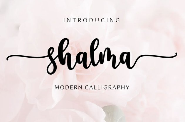 Shalma - Script Handwritten with Swash