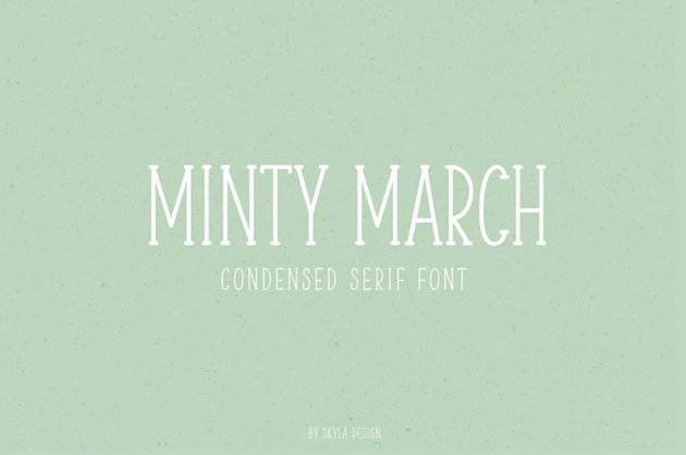 Minty March Condensed Thin Serif Font