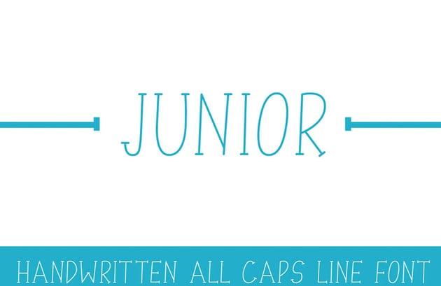 Junior Line Font