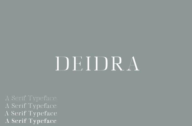 Diedra Serif Font Family Pack