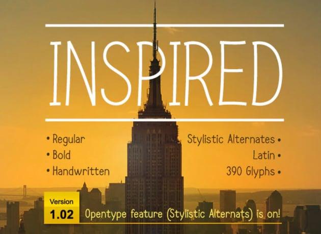 Inspired Handwriting Serif Font