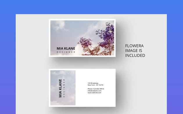 Business card with flower design
