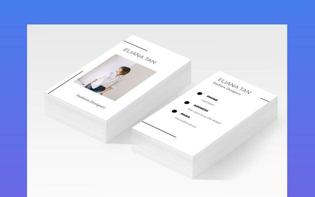 Designer Name Fashion Business Card