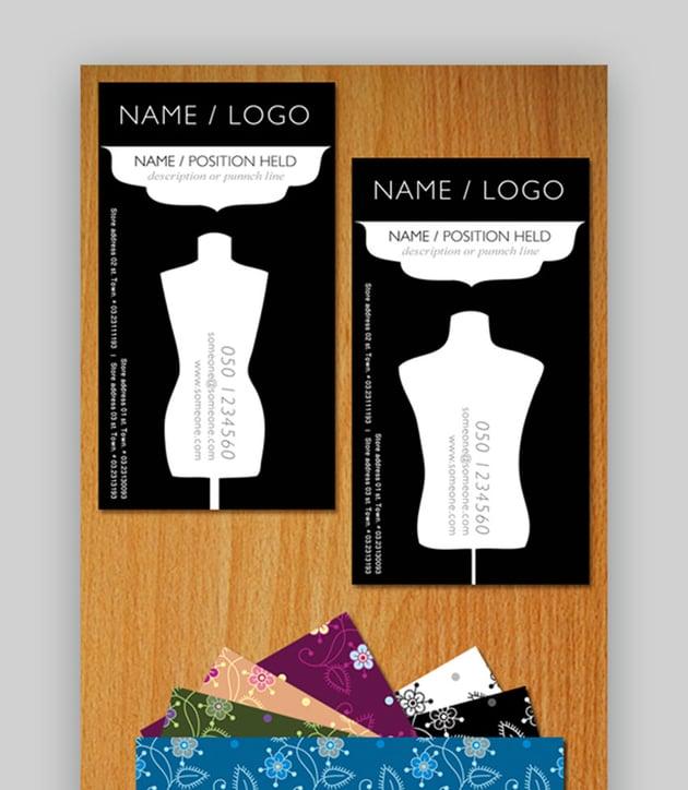 Clothing Brand Fashion Business Card
