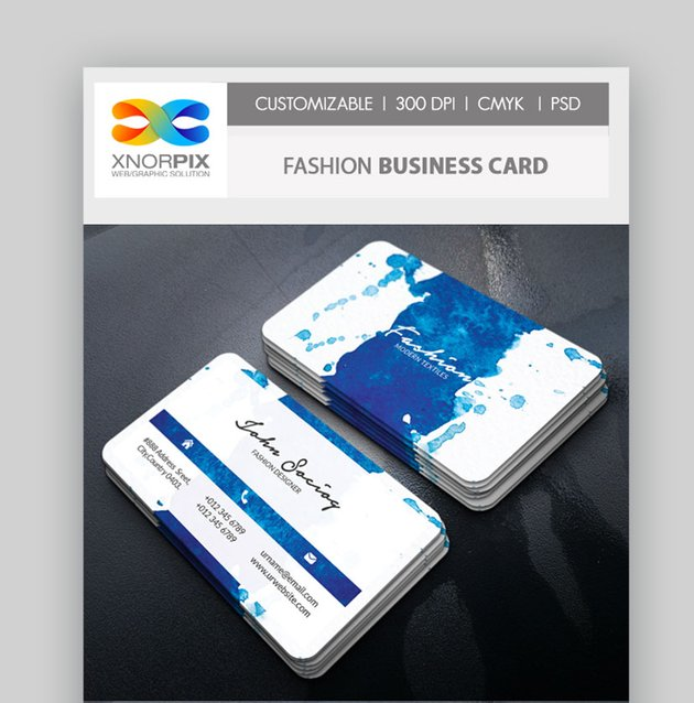 Fashion Textile Design Business Card