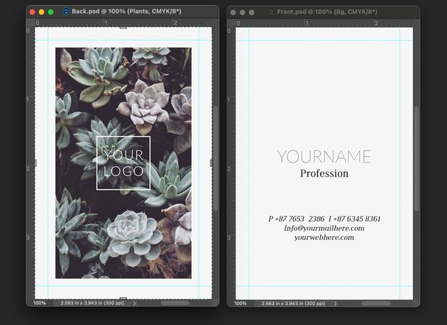 photoshop business card files