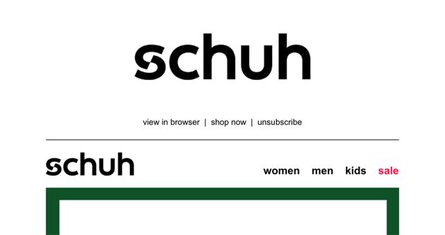 Schuh logo.