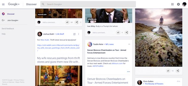 google site - menu still  visible after scrolling down