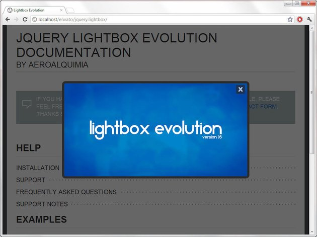 lightbox evolution plugin