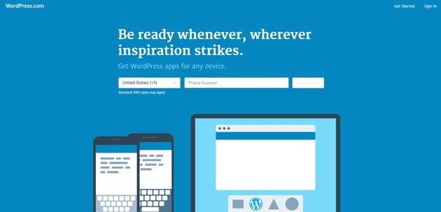 The wordpresscom website