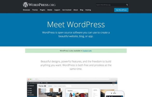 The wordpressorg website