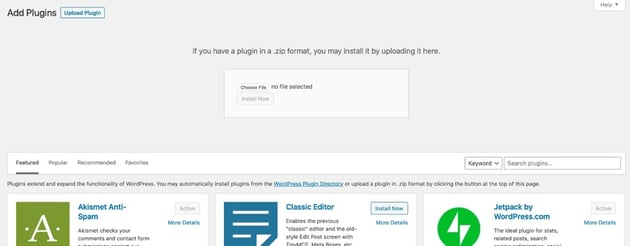 uploading a plugin