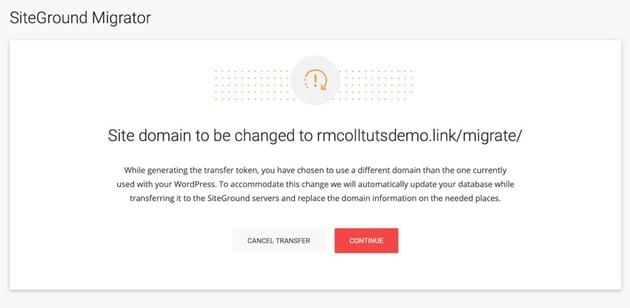 new domain warning