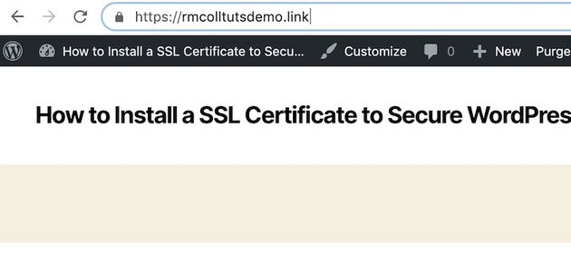 site with SSL