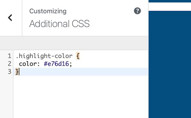 CSS color in customizer