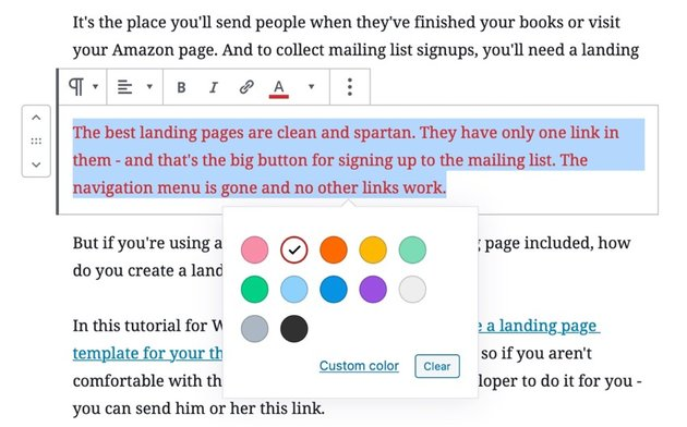changing font color