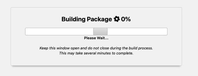 package progress screen
