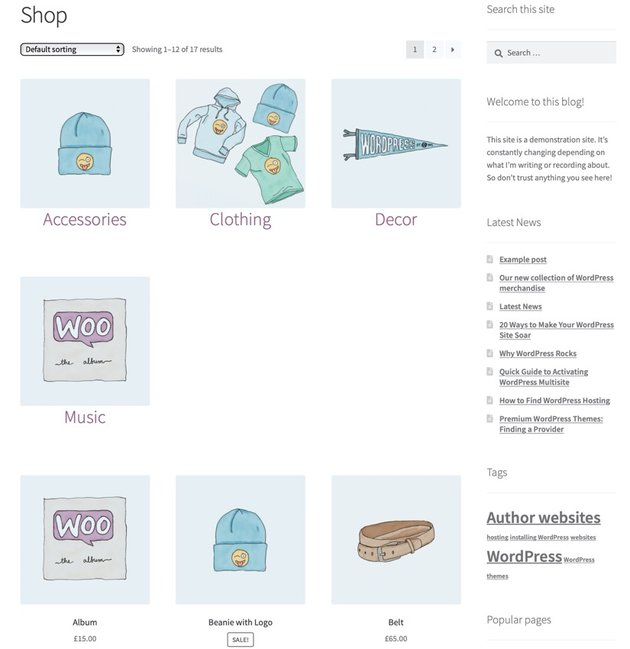 Final shop page