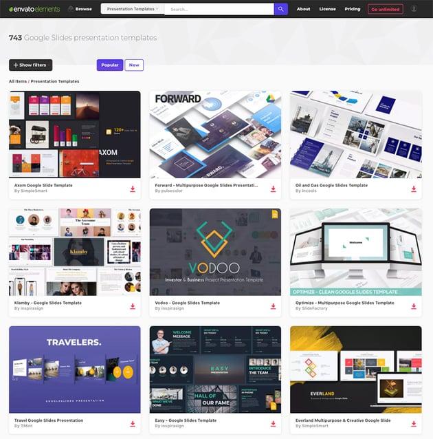 Google Slide Themes on Envato Elements
