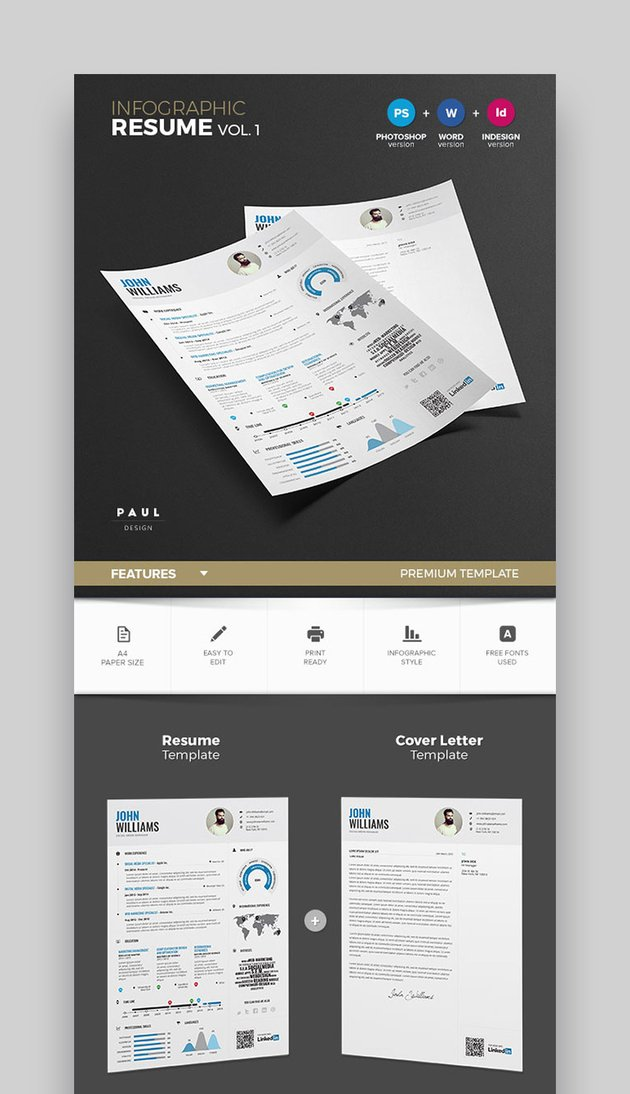 Infographic Resume Template Vol1