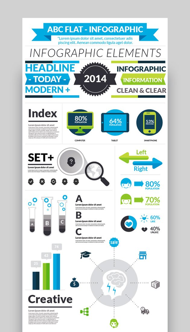 ABC - Flat Graphic Design Infographic Template
