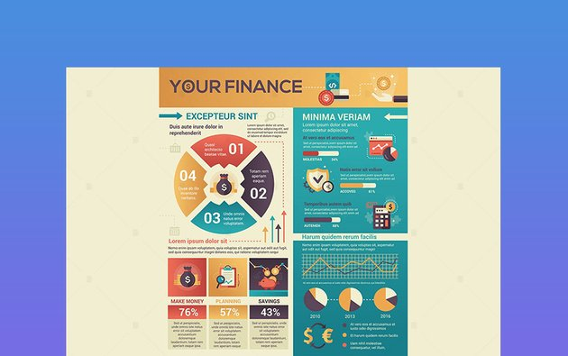 Finance - Poster Style Infographic Design Inspiration