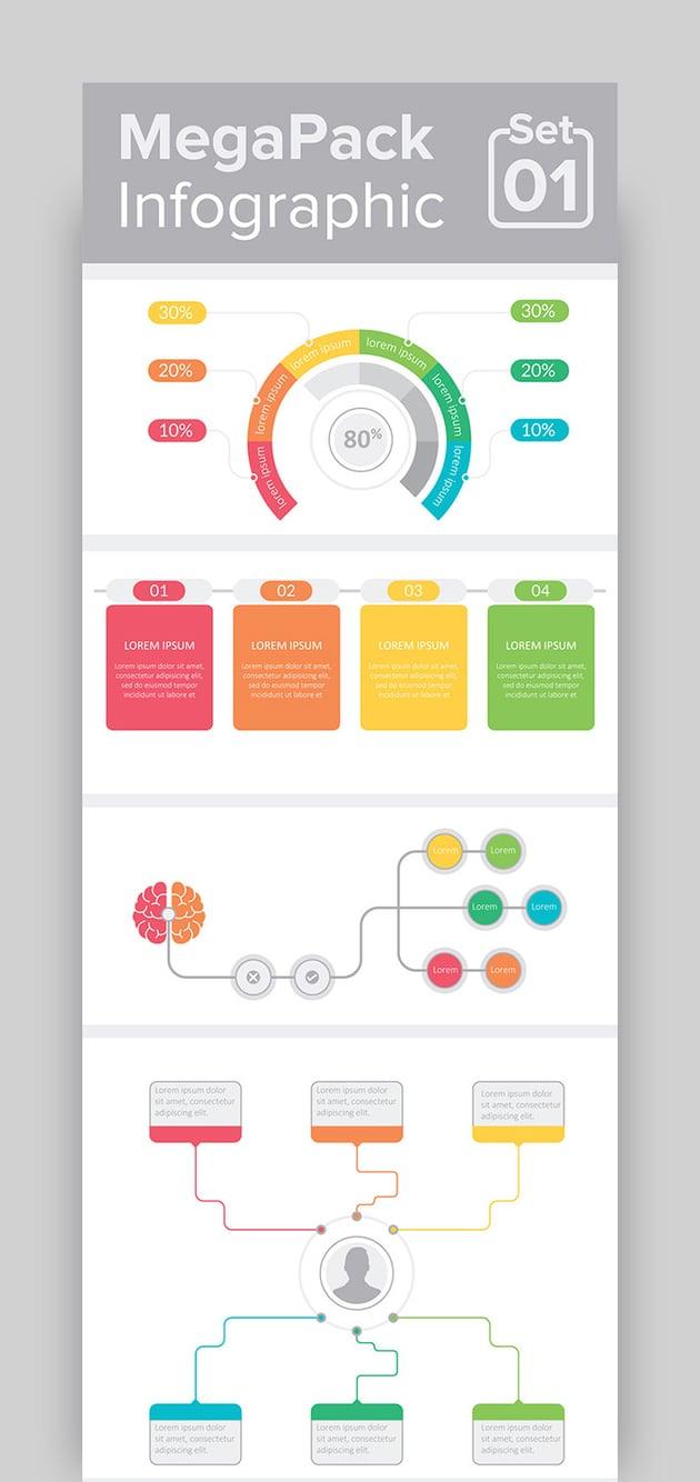 MegaPack Infographic Template Set 01