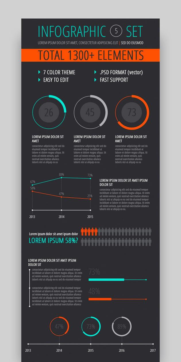 Infographic Design Templates Set 5