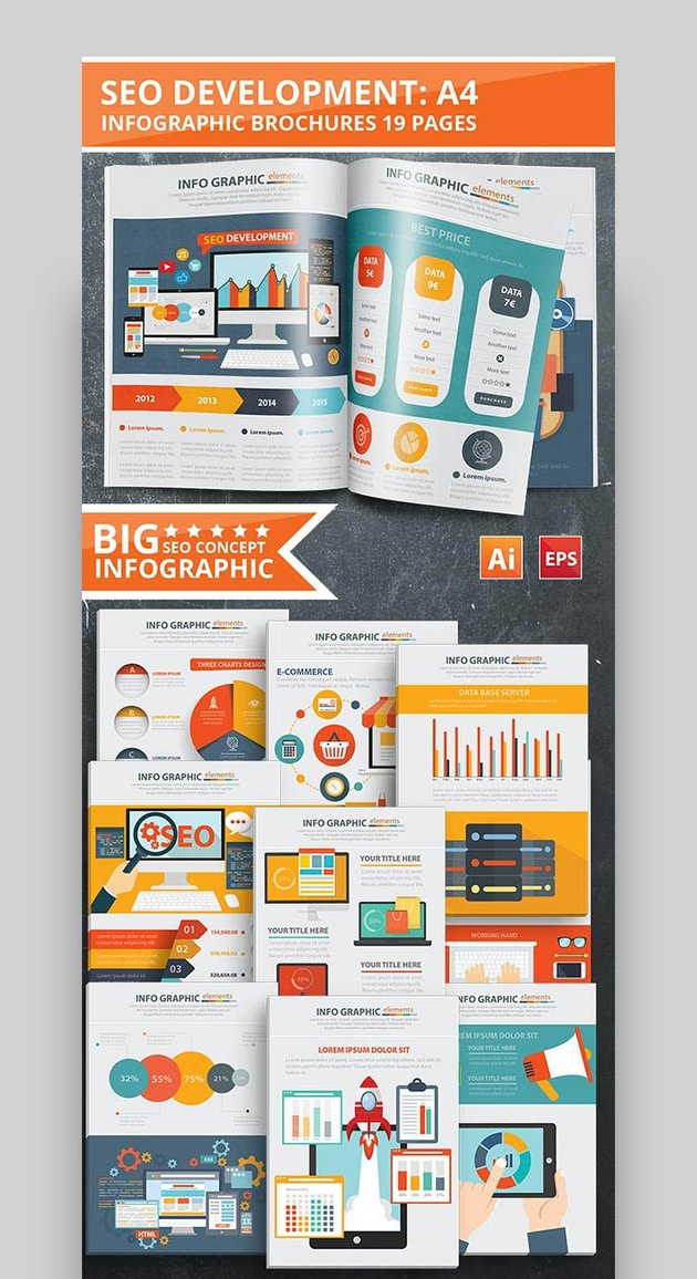 SEO Development Infographic Design - With 19 Pages