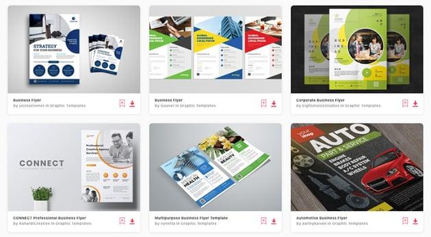 Best flyer design templates on Envato Elements 2020