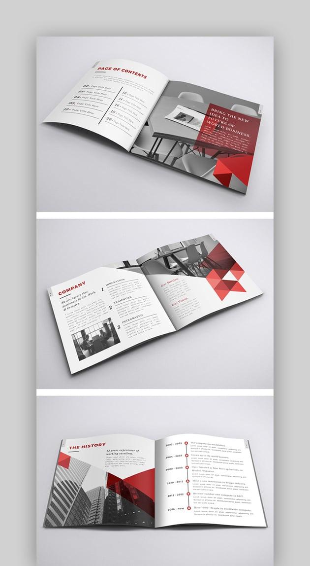 Company Profile InDesign Square Brochure