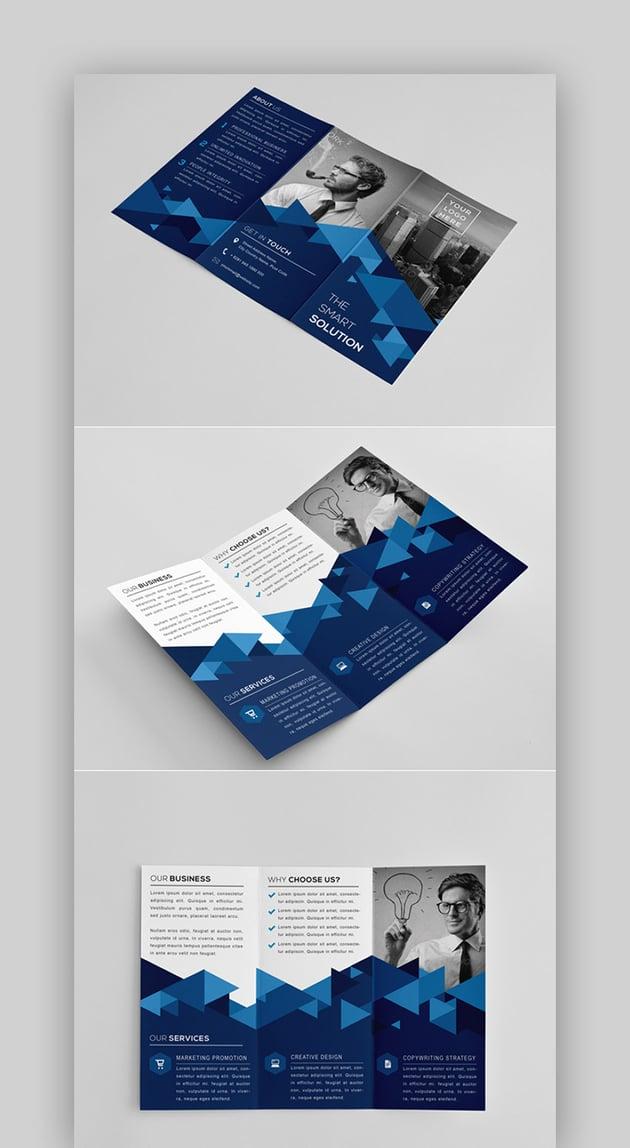 The Modern Tri Fold Brochure Template InDesign