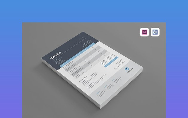 Simple Invoice Template Word DOC