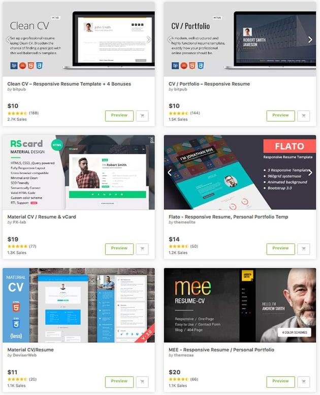 Best HTML Resume Templates