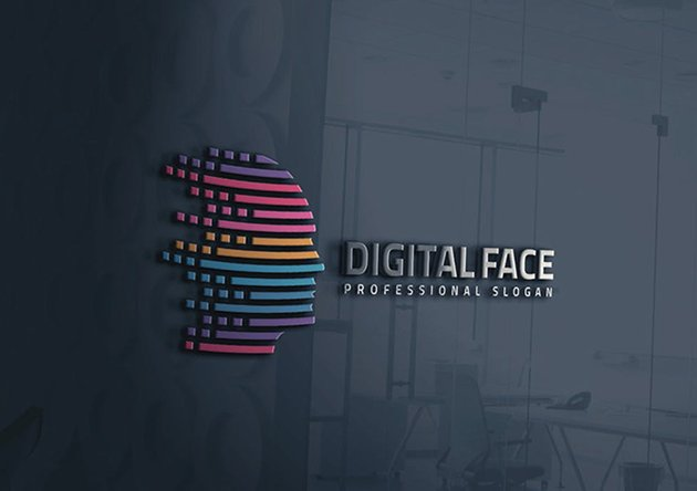 Virtual Human Head Logo
