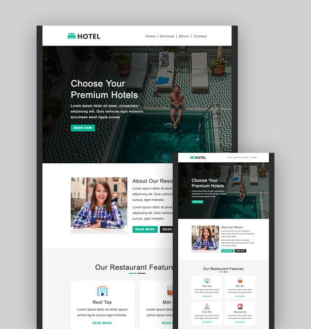 Hotel Booking - Mailchimp Themes