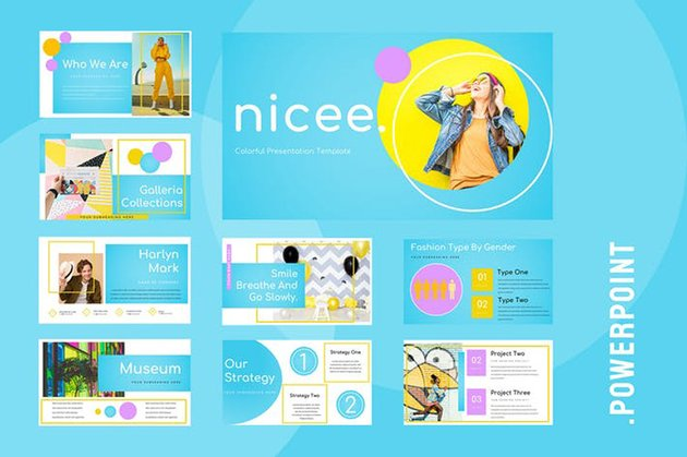Example of Fun Background for PowerPoint Presentations
