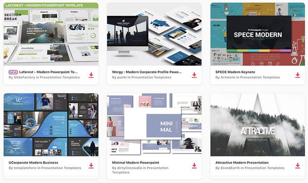 If you need modern contemporary PowerPoint templates for 2020 Envato Elements is a great place to look
