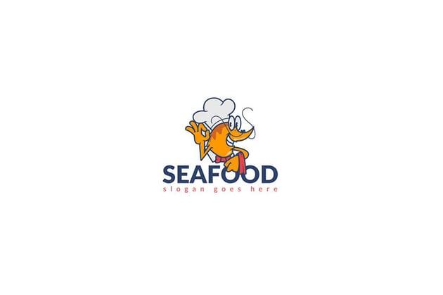 Seafood Chef Restaurant Logo