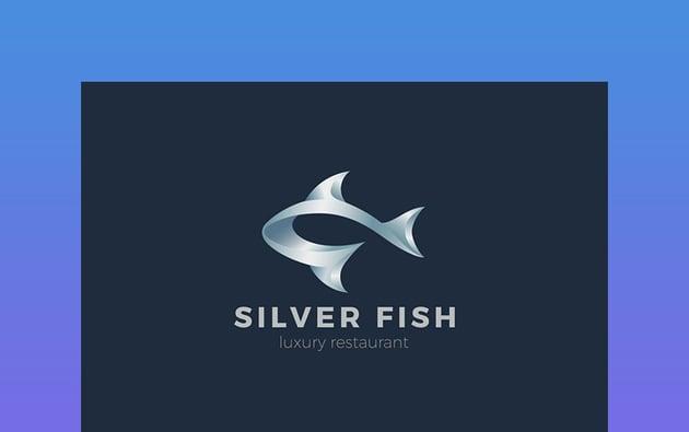 Logo Metal Fish Seafood Emblem