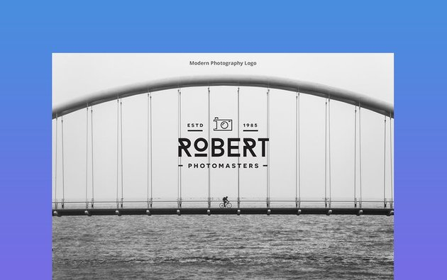 Modern Text Photography Logo
