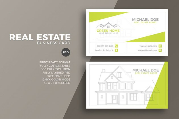 Real estate investor business card ideas on Envato Elements